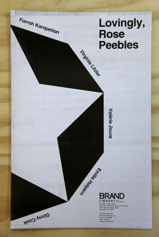 Lovingly, Rose Peebles broadsheet